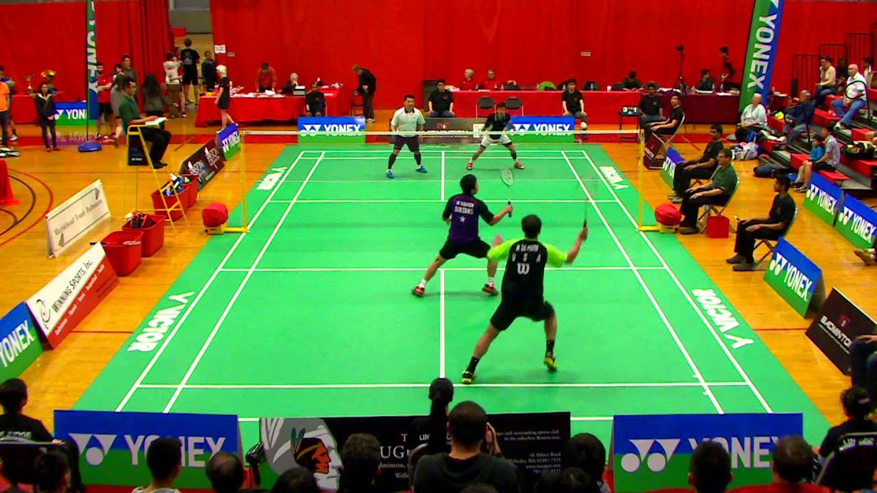 Mens Doubles Badminton Final - Boston Open 2015 - YouTube