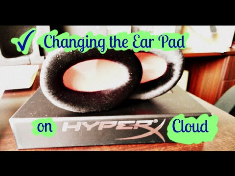 Hyper X Cloud Headset How to Change the Ear Cup Pad (similar method for other gaming headset)