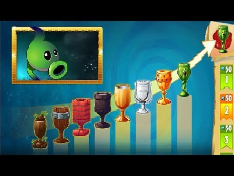 Plants vs Zombies 2: Mazo para subir Liga - Semana Lanzaguisantes Sombrio (Sin Plantas Premium)