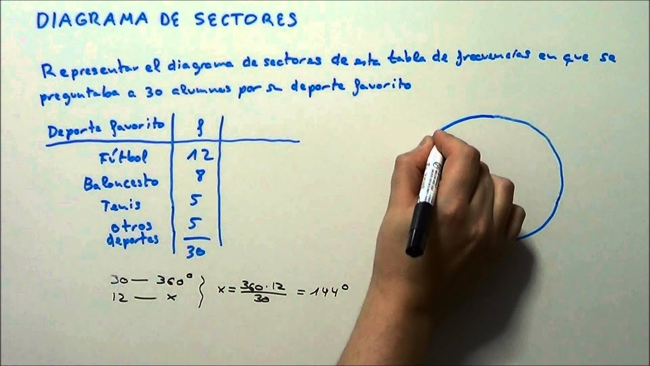 DIAGRAMA DE SECTORES. HD - YouTube