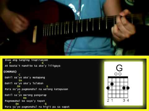 Dahil Sayo By Inigo Pascual Guitar Chords Youtube