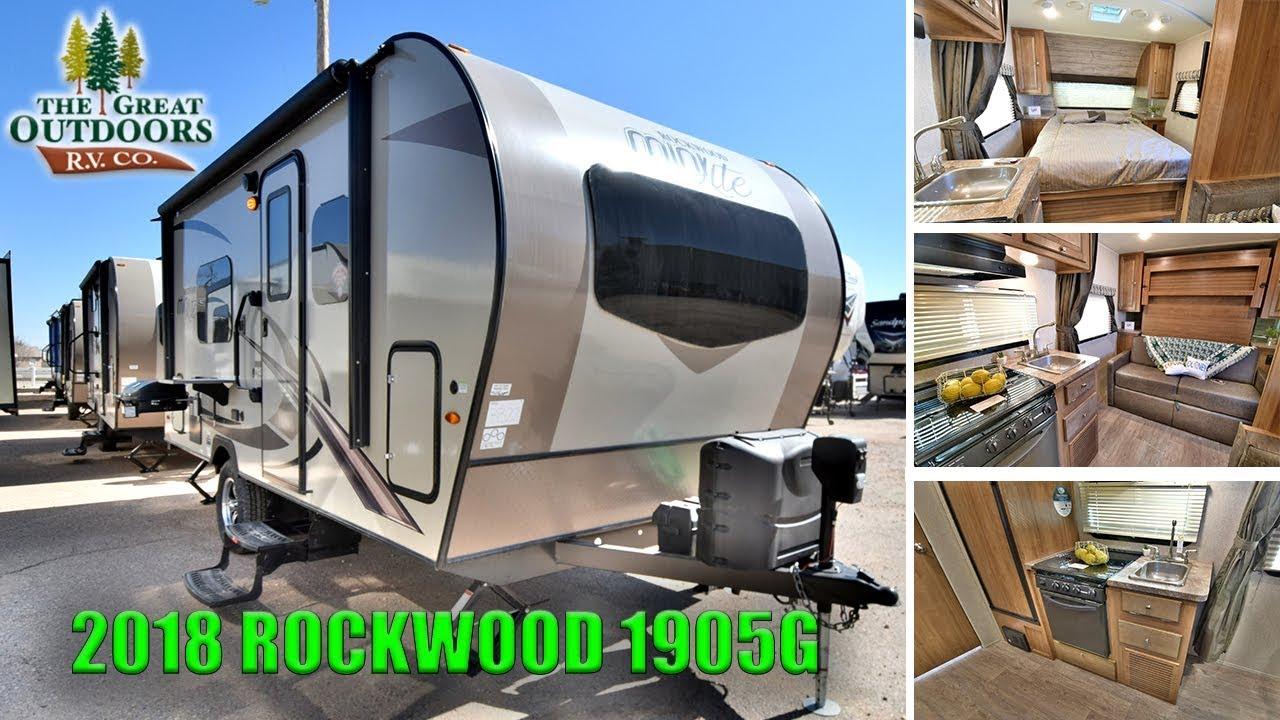 New 2018 Rockwood 1905g Mini Lite Murphy Bed Travel