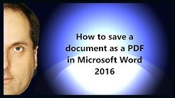 How to save a document as a PDF in Microsoft Word 2016