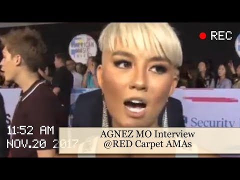 Interview AGNEZ MO @RED Carpet American Music Awards 2017