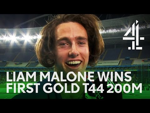 Athletics | Liam Malone Wins His First Gold For New Zealand In T44 200m | Rio Paralympics 2016