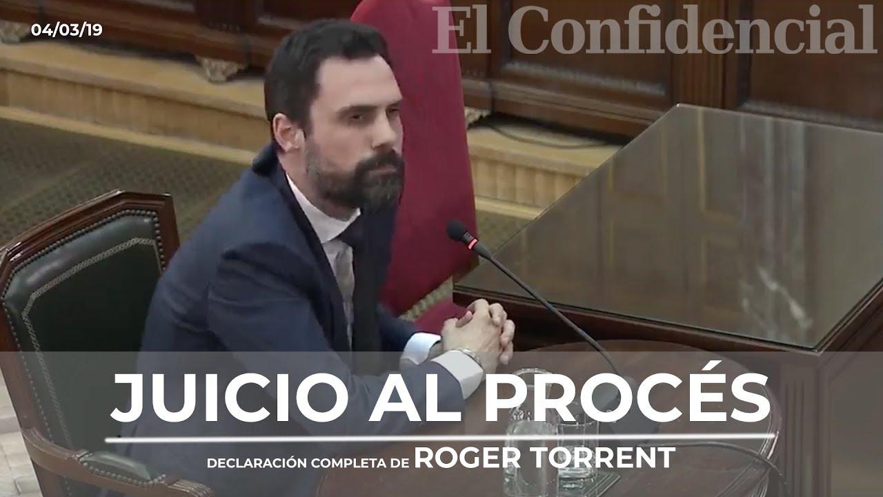 Roger Torrent, declaración completa en el juicio del procés