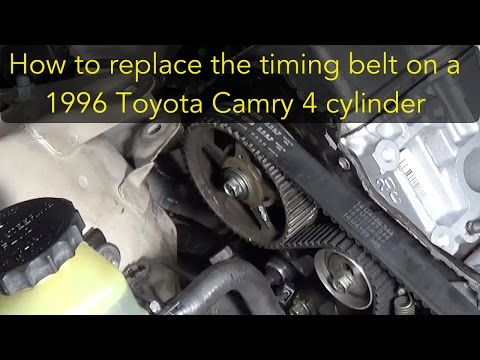 How to replace the timing belt on a 96 Toyota Camry 4 cylinder 5S-FE -  YouTubeYouTube