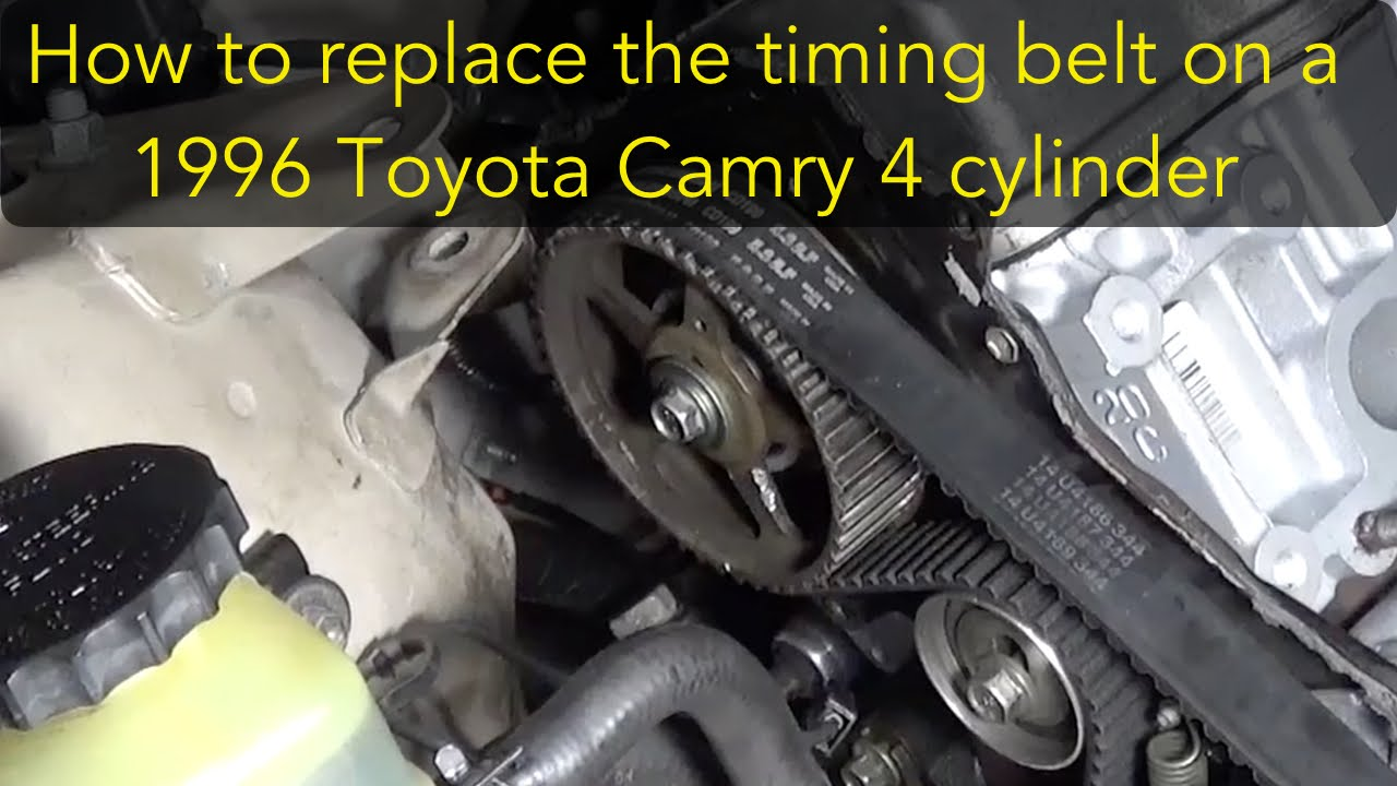 how to replace the timing belt on a 96 toyota camry 4 cylinder 5s fe rh youtube com toyota camry timing belt marks toyota camry timing belt marks
