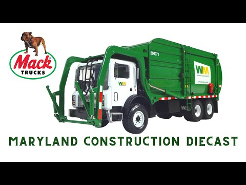 1:34 Mack MR Garbage Truck Waste Management