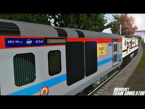 New Delhi - Rajendra Nagar (Patna) Rajdhani Express    GZB WAP7    MSTS Open Rails Journey Part 1