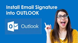 How to Install HṪML EMAIL SIGNATURE into Outlook ADVANCED WAY STEP BY STEP