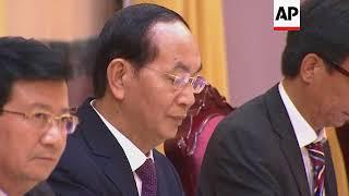 Vietnam president welcomes Egypt leader in Hanoi