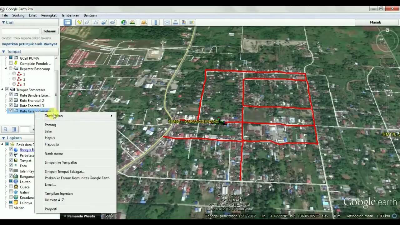 Tutorial Membuat Rute Di Google Earth Youtube