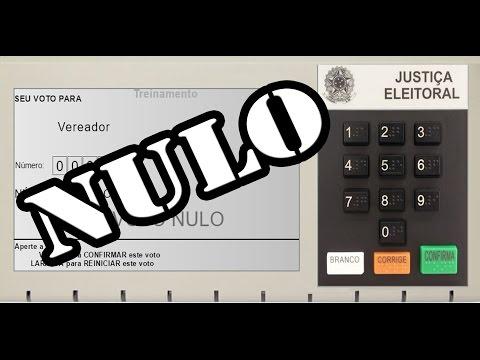 Como votar nulo Eleições 2016-Anular o voto anula a eleição?