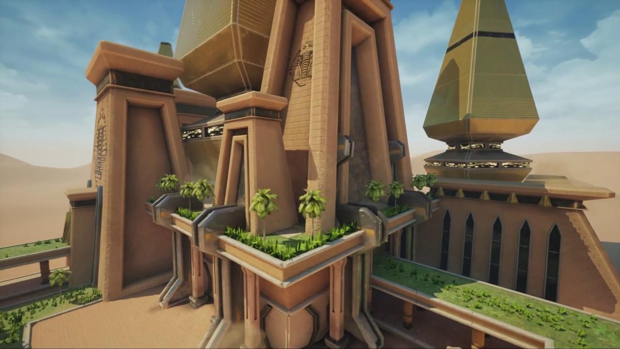 Unreal Engine 4 Environment Design Luxor Overwatch Art