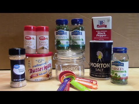 BUTTERMILK RANCH DRESSING MIX | HOW TO MAKE IT
