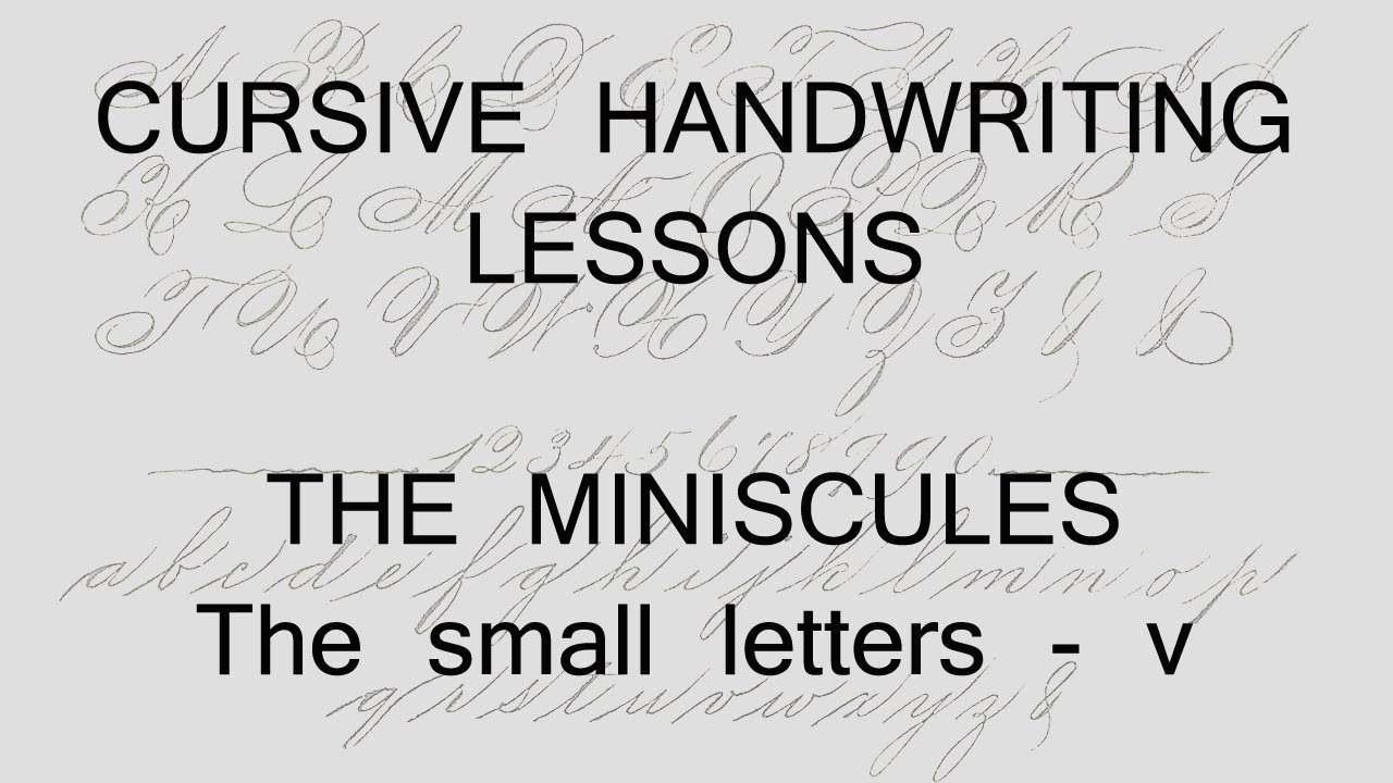 Cursive Lesson 5 V Handwriting Penmanship Calligraphy