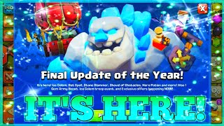 FINAL UPDATE OF THE YEAR! | CLASH OF CLANS NEW UPDATE LIVE! | NEW TROOP,NEW SPELL,NEW MAGIC ITEMS |