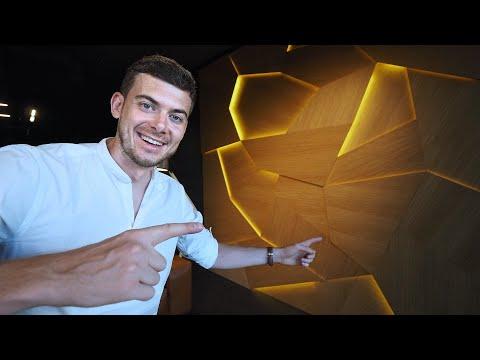 видео: 3d панели на стены. Новый свет в офисе