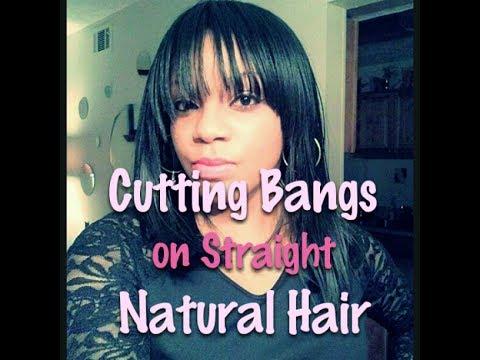 how to fix self cut bangs