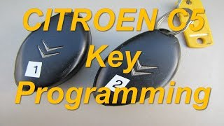 Citroen C5   How to Program Keys with Lexia 3 Citroen Remote Key Fob Reprogramming Key Chip Recode