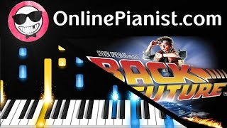 Back To The Future Theme - Easy Piano Tutorial - How to play - Alan Silvestri