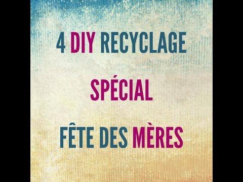 4 diy recyclage pour la f te des m res youtube. Black Bedroom Furniture Sets. Home Design Ideas