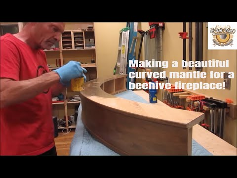 Making of a Gorgeous Curved Mantel  Handcrafted Woodwork!