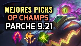 MEJORES PICKS Y CAMPEONES OP - PARCHE 9.21 League of Legends 2019 - OP Champs LOL Temporada 9