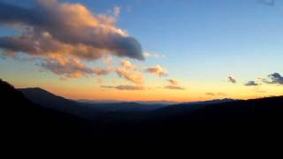 Time Lapse - Sunset at North Cove Valley Overlook on the Blue Ridge Parkway