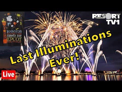 🔴Live: The LAST Illuminations: Reflections Of Earth Show Ever! Walt Disney World Live Stream
