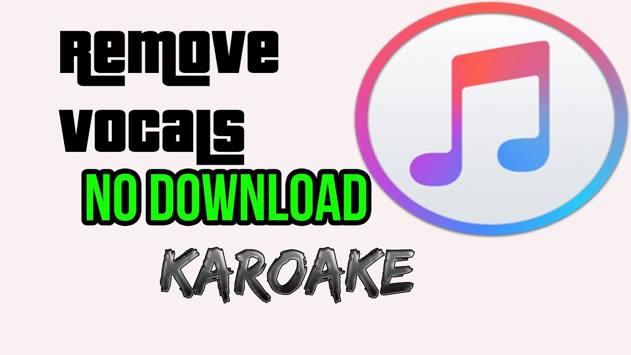 HOW TO REMOVE VOCAL FROM ANY SONG(KARAOKE) NO DOWNLOAD/ ONLINE