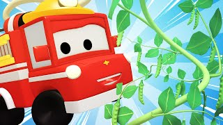 Die winzige Stadt -  Magische Bohne - Lerne mit den kleinen Trucks   Lehrreiche Cartoons für Kinder