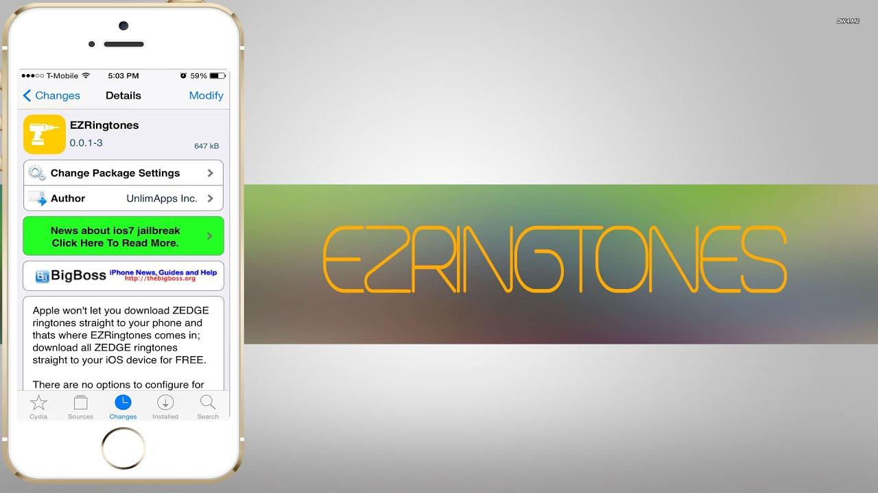 ez ringtones installa ringtones desde la app de zedge sin syncronizar con tu pc cydia youtube
