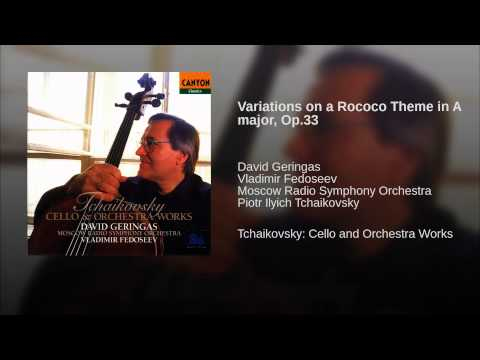 Variations on a Rococo Theme in A major, Op.33