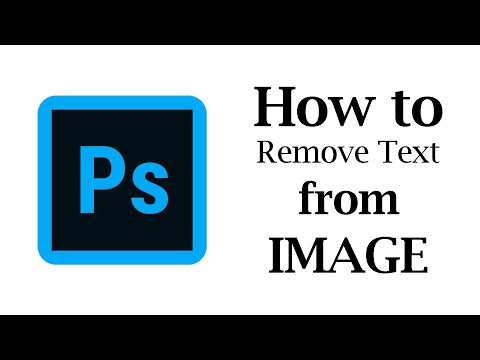 How To Remove Text From Image In Adobe Photoshop CC 2020