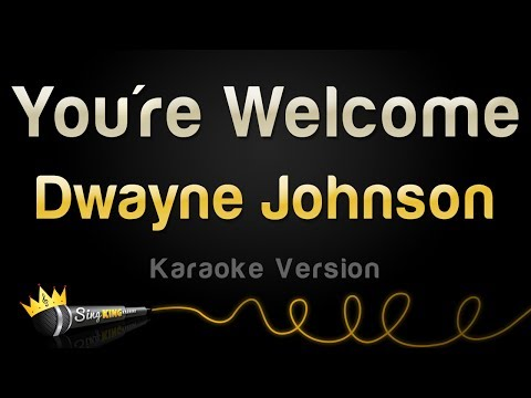 Dwayne Johnson  Youre Welcome from Moana Karaoke Version
