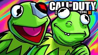 BO3 Zombies Funny Moments - Hasta La Vista Kermit!