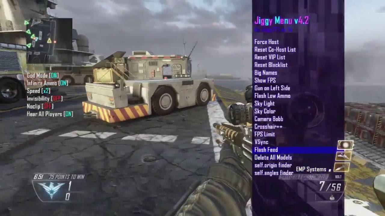 ★ Jiggy v4 2 Mod Menu Gameplay BO2 ★