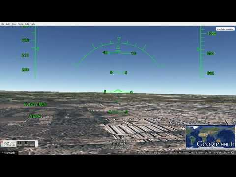how to drive a plane in google eart
