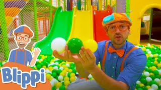 Blippi Visits Jumping Beans Indoor Playground For Toddlers | Educational Videos For Kids