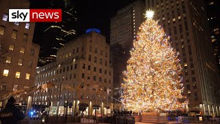 COVID-19: Silent night in New York as crowds avoid the Rockefeller Christmas lights switch-on