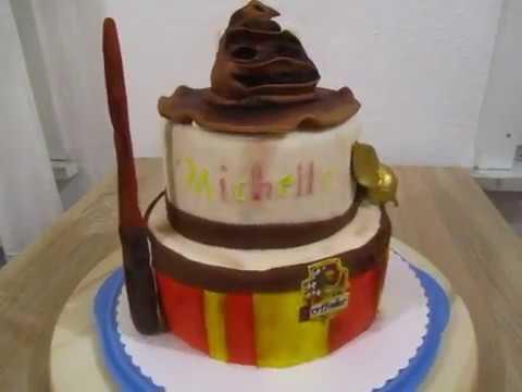Harry Potter Torte 2stockige Geburtstags Torte Mit Hut Youtube