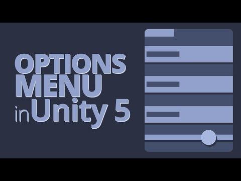 Options Menu in Unity 5 Tutorial - Part 3