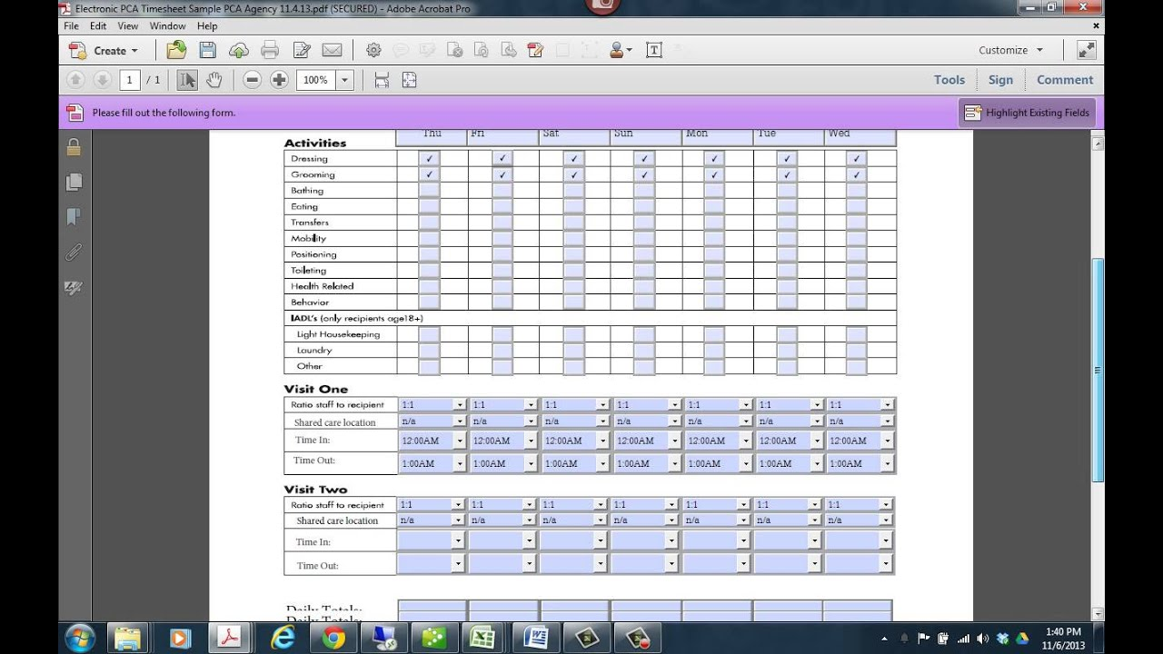 electronic timesheets excel