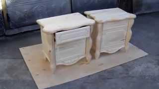 Резные, деревянные, прикроватные тумбочки  Carved wooden bedside tables