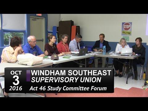 WSESU Act 46 Public Forum 10/3/16