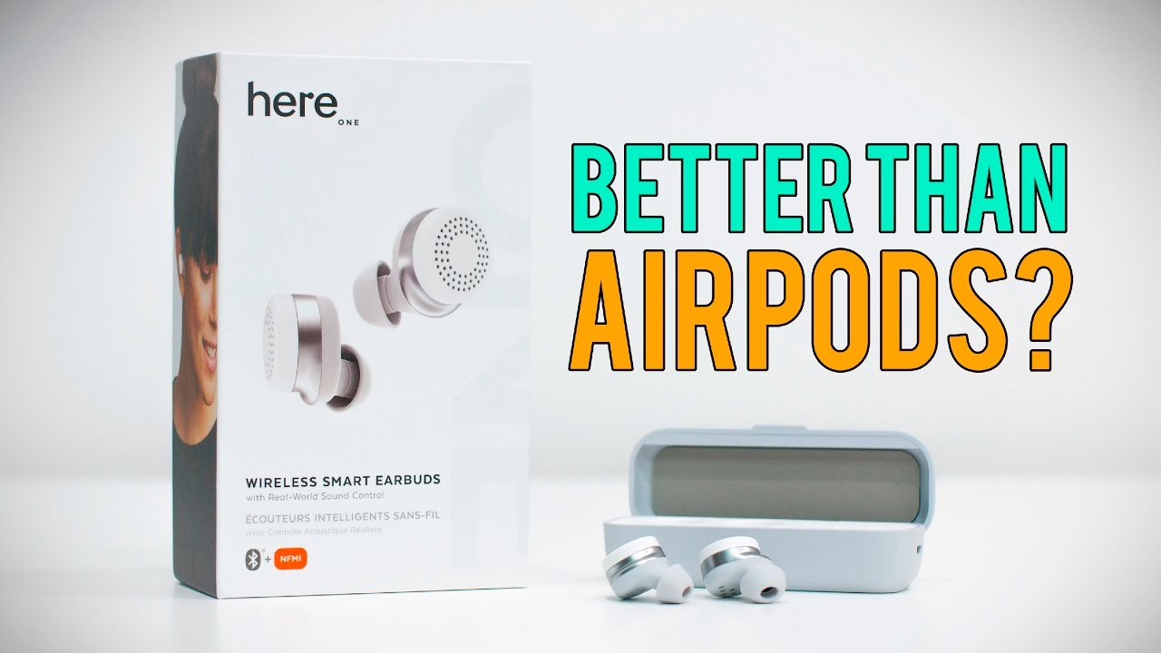 here one earbuds better than air pods youtube. Black Bedroom Furniture Sets. Home Design Ideas