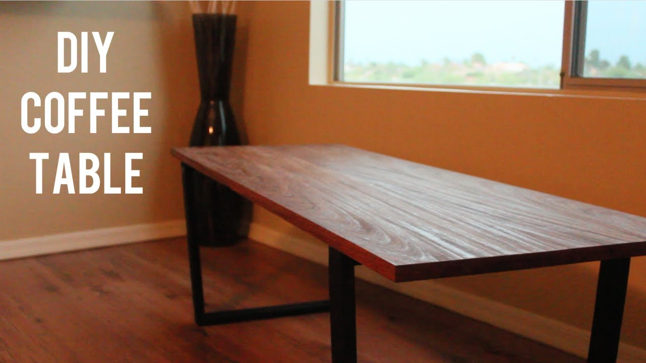 Modern DIY Coffee Table Mahogany