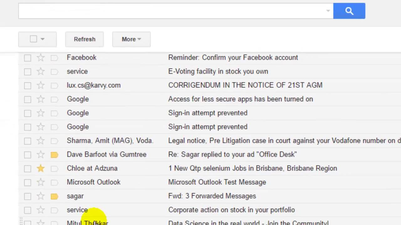 create rules in gmail